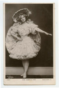 c 1907 Edwardian Theater Actress GABRIELLE RAY Fashion Vintage photo postcard