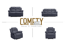 Grey Leather Recliner sofa, Available in 1,2 and 3 seater