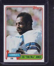 "Ed ""Too Tall"" Jones 1981 Topps Football Card # 185 Dallas Cowboys Defense NM !"