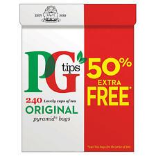 PG Tips Original 160 + 50% libre. 240 bolsas de pirámide.