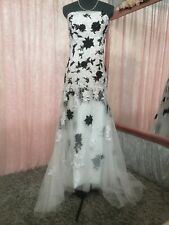 Black And White Wedding/prom Gown