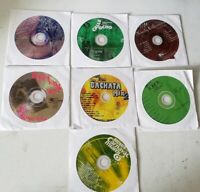 BACHATA LOT OF 7 CD'S LATIN MUSIC - Cds Used various Artists good conditions