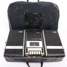 Vintage Superscope CS-200s Cassette Tape Player Recorder w Speakers & Case NICE