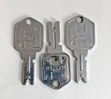 New listing Junk Drawer 3 OrIginal Hyster Forklift Keys fits several different manufacturers