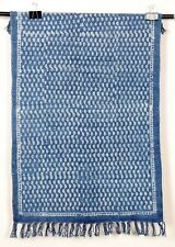 Small Area Rug Indigo Handmade Floor Carpet Bohemian Blue Dari 2x3 Ft Runner Mat
