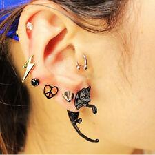 1Pair Cute Long Tail Cat Women Men Unisex Ear Stud Earrings Piercing Jewelry