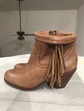 ca64342ff100f Sam Edelman NEW Louie Tan Fringe Ankle Bootie Size 6.5