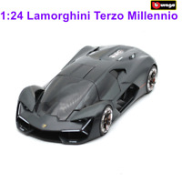 Bburago 1:24 Lamborghini Terzo Millennio Black Diecast Racing Car Model W/ Base