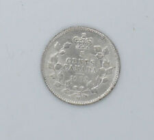 1902 Canadian silver coin 5 cents AU-55 condition Big H