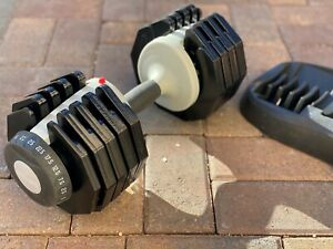 55-lb Adjustable Dumbbell - Weight Range of 5-to-55 lbs w/ Safety Lock