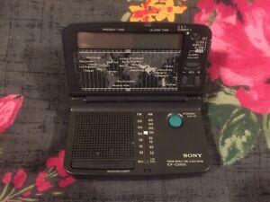 SONY ICF-C2500 FM/ AM WORLD TIME CLOCK RADIO