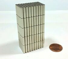 "20 Neodymium Magnets 1/2"" × 1/8"" Super strong N52 Rare Earth"