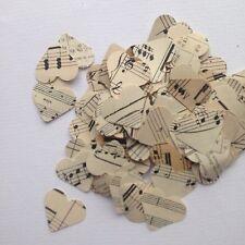 Assortiment de 100 1 in (environ 2.54 cm) coeurs de Vintage Music Feuilles Mariage Scrapbooking