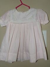 Petit Ami 3M 6M 9M Dress Pink Embroidered Flowers Collar Lace Spring Easter Vtg