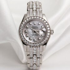 Rolex Lady DateJust PearlMaster 80299 18k white gold MOP Diamond Dial
