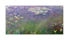 CLAUDE MONET Water Lilies Stampa su tela Canvas effetto dipinto