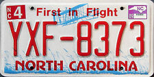 North Carolina FIRST IN FLIGHT RED License Plate - AVIATION AIRPLANE NC