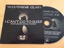 WU TANG CLAN PROMO CD SINGLE SLIPCASE I CANT GO TO SLEEP