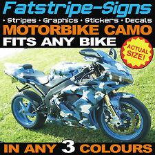 MOTORBIKE FULL CAMO KIT VINYL GRAPHICS STICKERS DECALS HONDA SUZUKI KAWASAKI R1