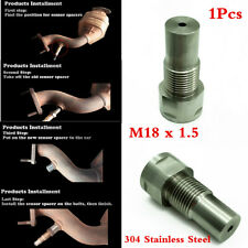 1Pc SS304 02 Oxygen Sensor Downpipe Extension Spacer Catalytic Converter M18×1.5