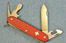 c1970s VTG Victorinox PIONEER RED ALOX OLD CROSS BRASS LINERS Swiss Army Knife