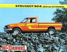 Peugeot 504 Pick-Up 4x4 Dangel 1982-83 UK Market Foldout Sales Brochure