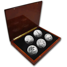 2013 5-Coin 5 oz Silver ATB Set (Elegant Display Box) - SKU #79732