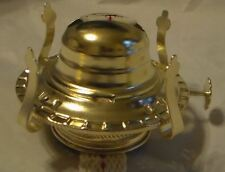 New #2 Brass Plated Oil Burner w/wick & removable screw on collar for oil lamps