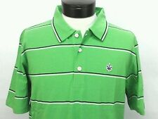 BOAST USA Short Sleeve Tennis Polo Strpped Shirt Green White Navy Mens Large NWT