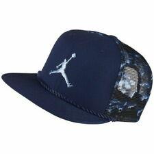 Nike Air Jordan Cloud Camo Trucker Mesh Snapback 789505-410 Men's NEW Navy Blue