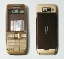 brown Housing Cover Case Fascia Faceplate for Nokia E52 gold brown