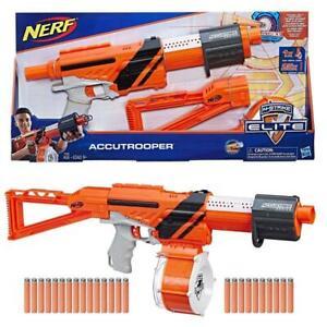 Hasbro E2283 NERF N-Strike Accutrooper Blaster Gewehr Trommel mit 25 Darts