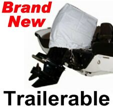 NEW VINYL OUTBOARD BOAT MOTOR/ENGINE HOOD COVER,2-STROKE 85-125 HP,TRAILERABLE