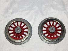 Two Standard Gauge Wheels 14 Red Spokes by McCoy New Old Stock metal  for prewar