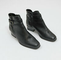 EUC HR Flexibles Black Ankle Boots US 7-1/2 M