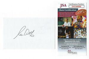 PACKERS Ron Wolf signed 3x5 index card  AUTO JSA COA AUTO Green Bay SB XXXI