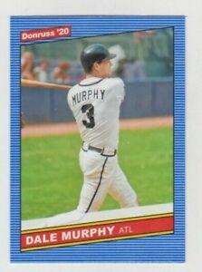 (8) Dale Murphy 2020 DONRUSS 1986 RETRO CARD LOT #234 ATLANTA BRAVES