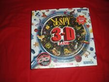 SCHOLASTIC I SPY 3-D BOARD GAME WITH 4 PAIR 3D GLASSES AGE 5+ 1-4 PLAYERS NEW