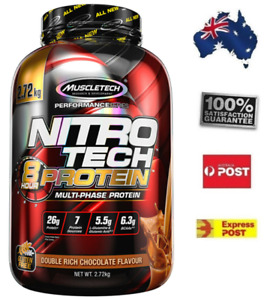 2.72kg MuscleTech NitroTech Post Workout 8 Hour Protein Double Chocolate Flavour