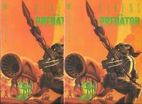 Aliens vs. Predator #1   Lot of 2 (June 1990, Marvel Comics)