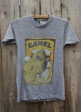 '80s Vintage Heather Gray Joe Camel Cigarettes T-Shirt Tri Blend Rayon Sz Small