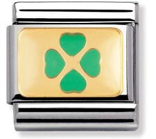 nomination charm Pastel Green Four Leaf Clover RRP £22