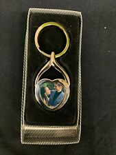 VALENTINES SPECIAL-HEART SHAPED PERSONALISED PHOTO KEY RING IN PRESENTATION BOX-