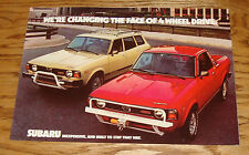 Original 1979 Subaru 4 Wheel Drive Foldout Sales Brochure 79 Wagon BRAT