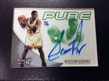 2014 LEAF Q Scottie Pippen Pure Glass Green 10/10 Bulls AUTO Autograph Signed