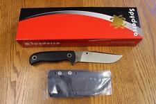 NEW Spyderco FB33GP Bradley Bowie Fixed Blade Knife Sheath Black G10 PSF27 Steel