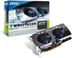 MSI GTX 660 Twin Frozr III OC 2GB GDDR5 4K UHD 60Hz