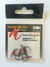 20 (4 packs of 5) Matzuo 97001 Drop Shot Swivel Hooks size 1