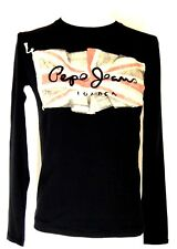 T-shirt PEPE JEANS homme ,Noir , Taille S ,col rond