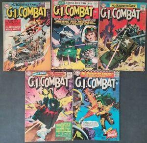 G.I. COMBAT LOT OF 5 SILVER AGE DC COMICS 1963 1ST SGT ROCK & HAUNTED TANK #108
